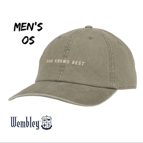 "9bee8b5d67f Wembley ""DAD KNOWS BEST"" Dad Hat NWT Q"